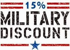 15% Military Discount